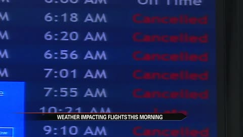 Freezing rain causes number of cancellations, delays at South...